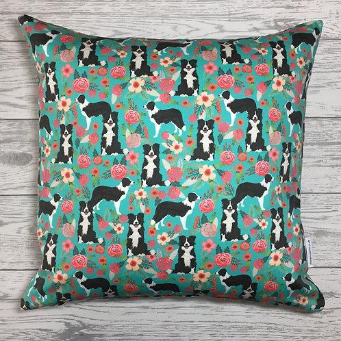 Border Collie Dog Print Cushion Cover