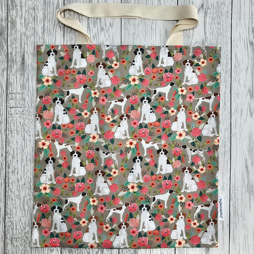 Tan Floral Pointer Bag for Life