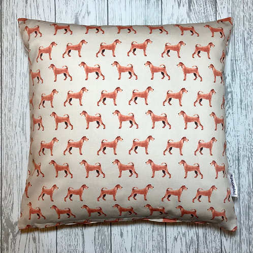 Irish Terrier Tan Cushion Cover