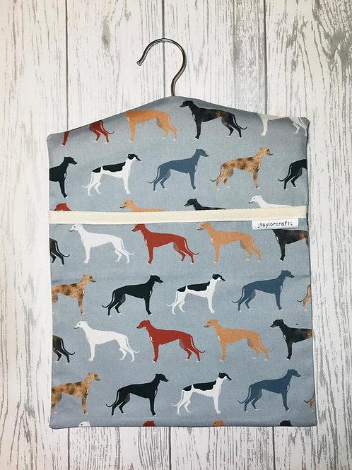 Greyhound Dog Peg Bag