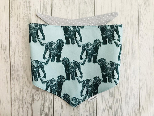 Portuguese Water Dog Reversible Tie Bandana