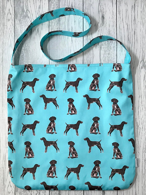 Blue German Shorthaired Pointer Shoulder Bag