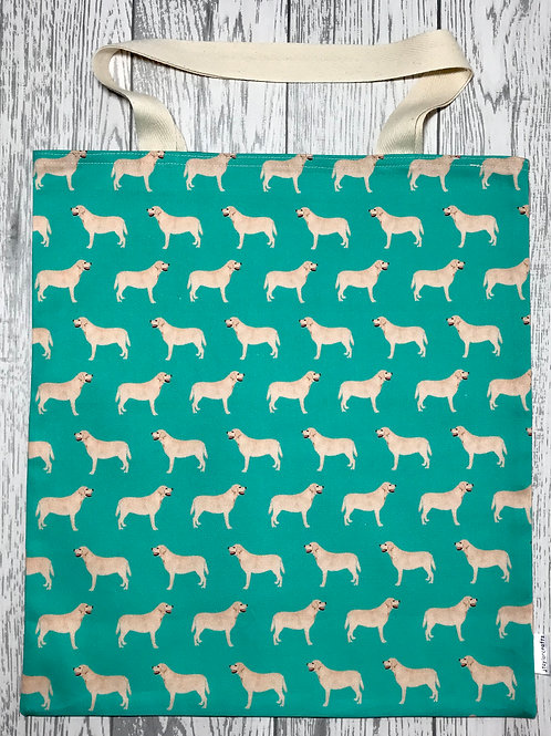 Green Yellow Labrador- Bag for Life