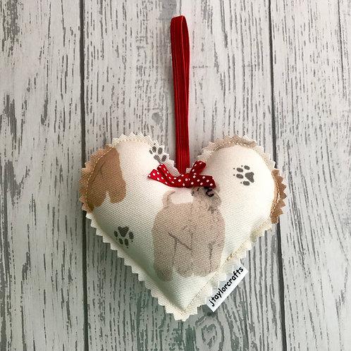 Wheaten Terrier Fabric Decorative Heart