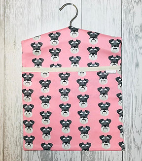 Pink Schnauzer Peg Bag