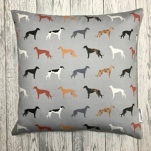 Greyhound Dog Print Cushion Cover
