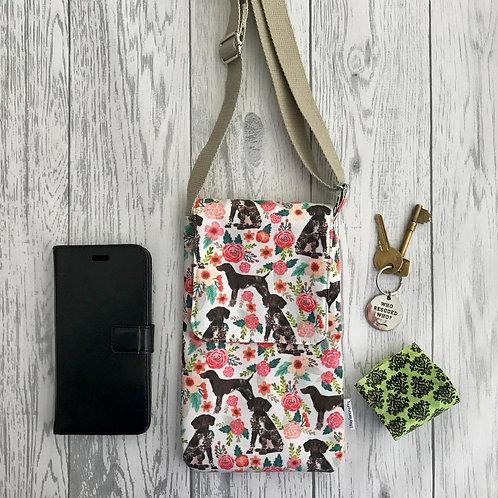 Cream Floral GSP Handy Shoulder Bag