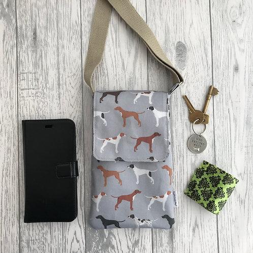 Grey Pointer Handy Shoulder Bag