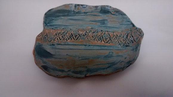 Organic matt blue plate