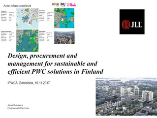 """Design, procurement and management for sustainable and efficient PWC solutions in Finland"""