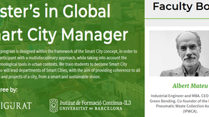 Master's in Global Smart City Manager by IL3- University of Barcelona  and Zigurat Institute of Tech