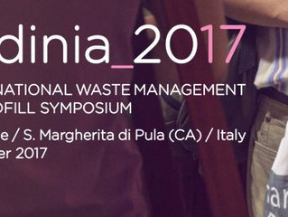 SPEAKER AT THE SARDINIA 2017 -  INTERNATIONAL WASTE MANAGEMENT AND LANDFILL SYMPOSIUM.