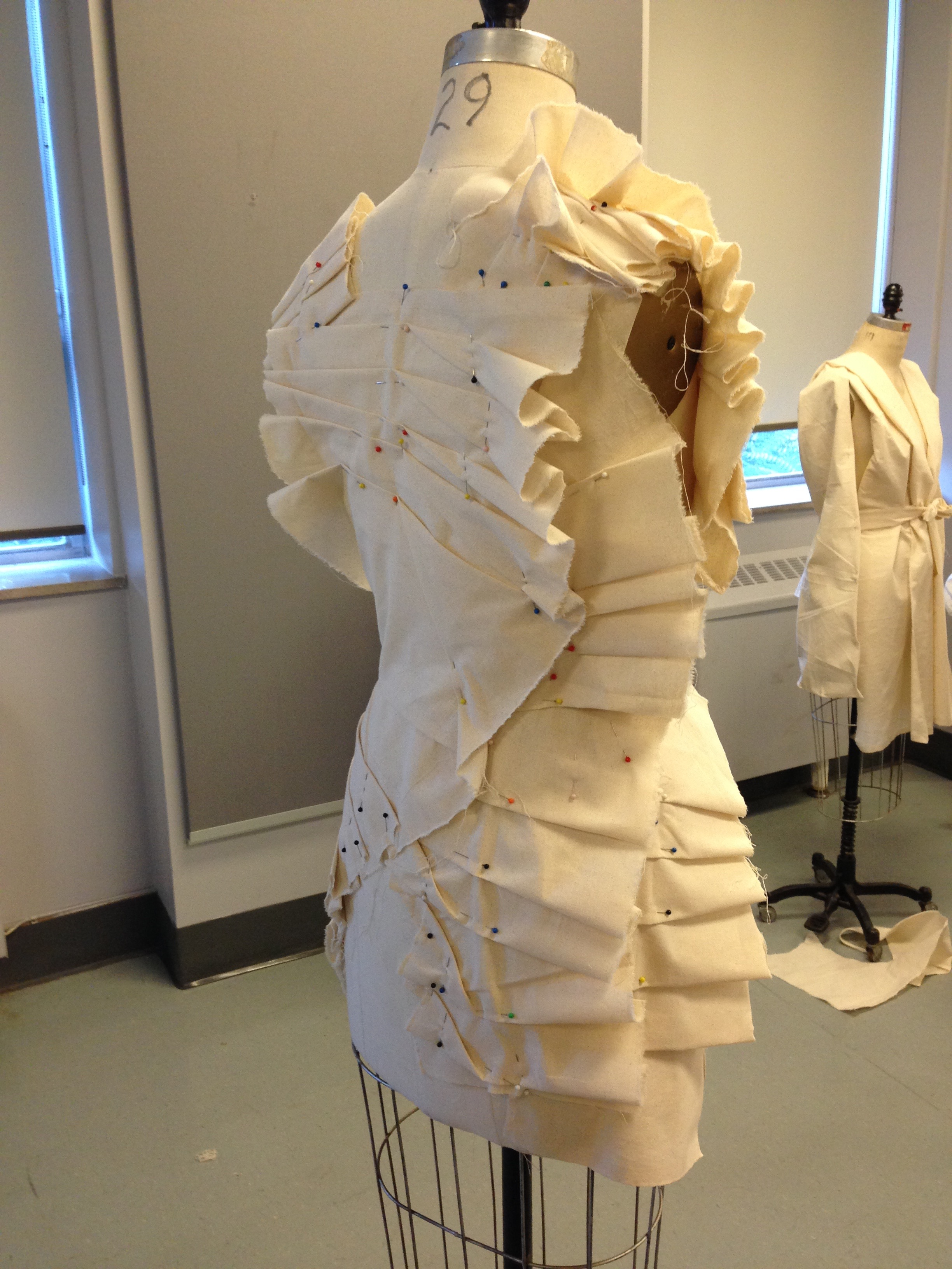 Student work - exploring with pleats