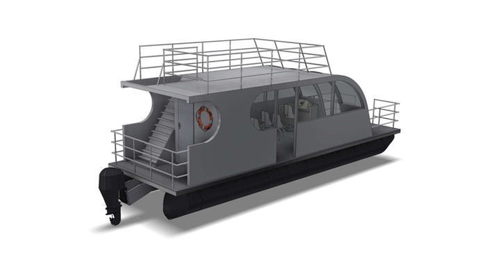 Concept of a small 3m wide ferry