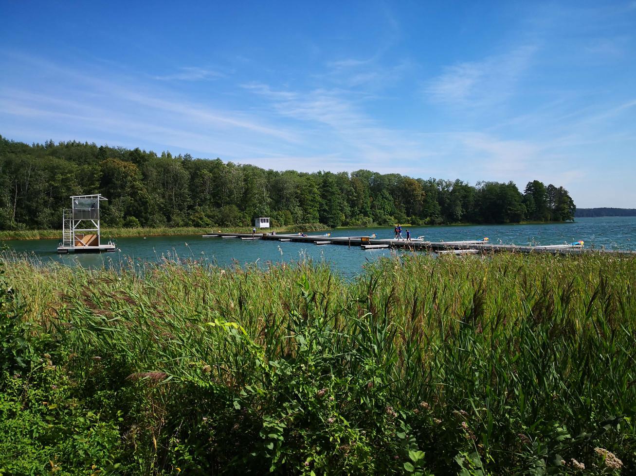 Rowing start in Trakai Lithuania