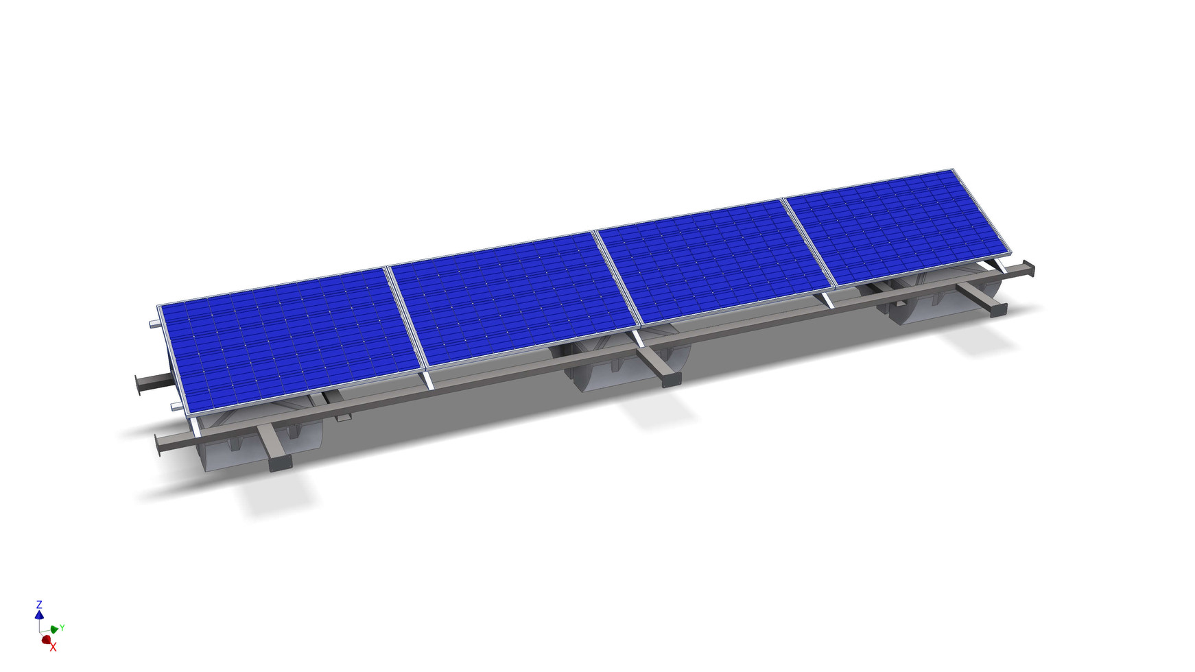 Floating solar modules