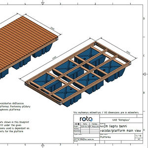 Floating dock blueprint sample made by Rotoplius..