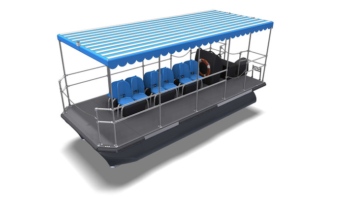 Water taxi with sunshade