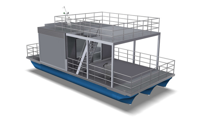 Floating container office