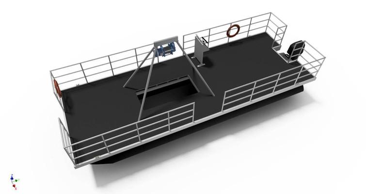 Dredger platform