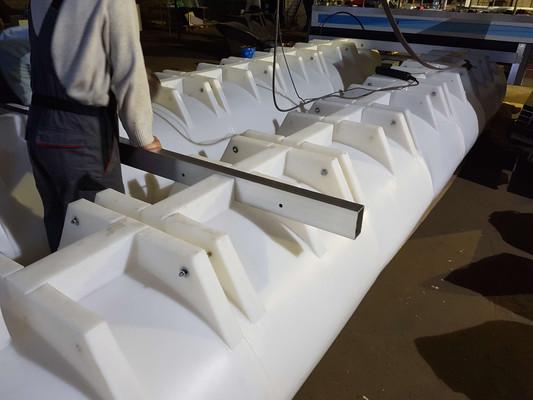 White - milk white pontoons