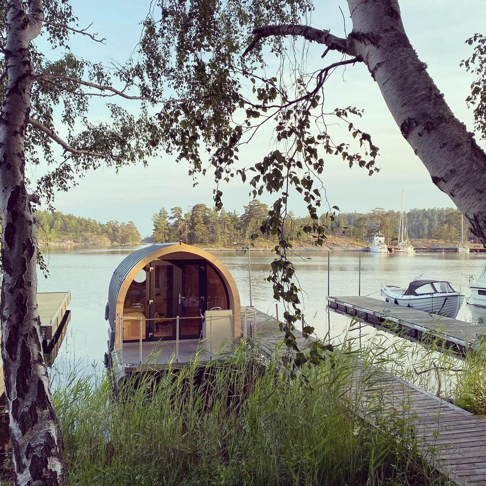 Skalpod floating hotel in Stockholm Sweden