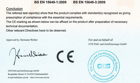 A sample of a fake Chinese CE certificate