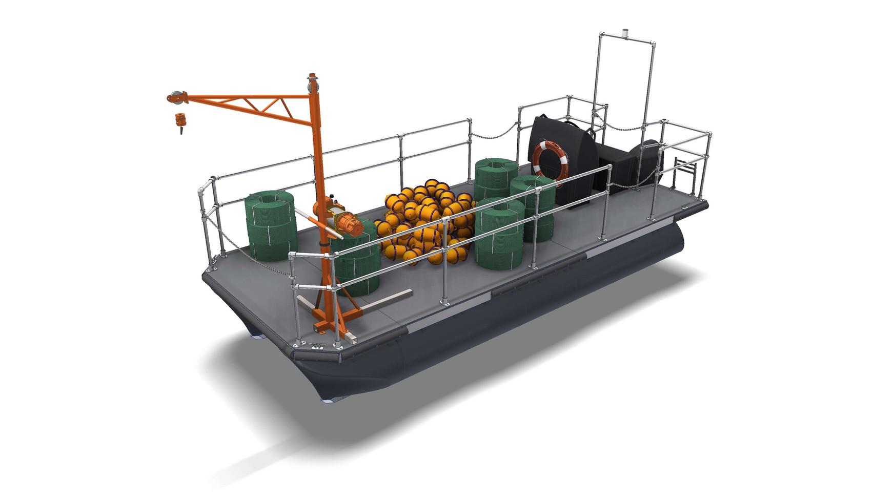 Catamaran for zone marking