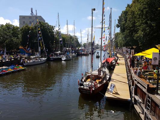 Floating docks in Klaipeda during Sea festival