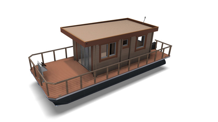 Small houseboat