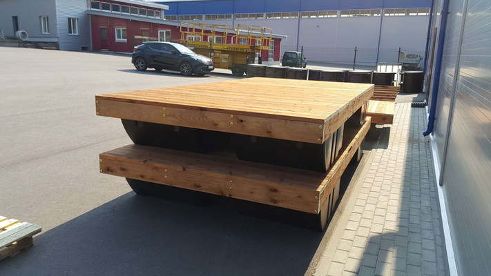 4m x 2m floating jetty sections