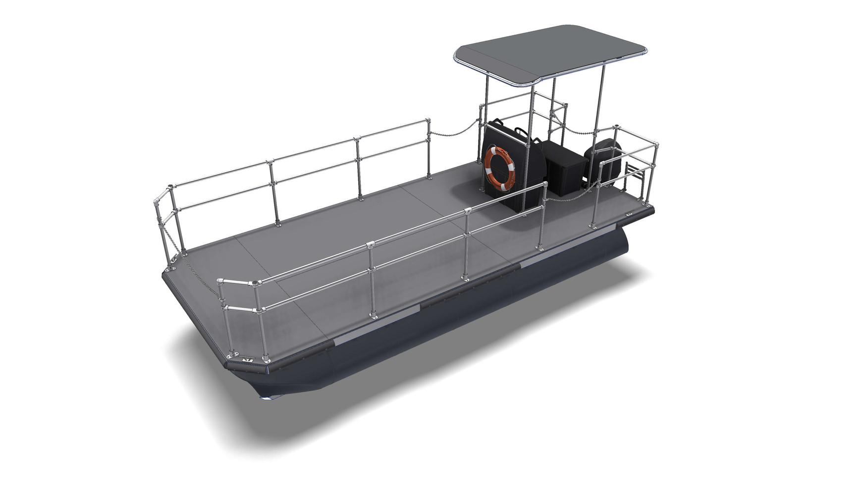5,8m x 2,45m catamaran canvas