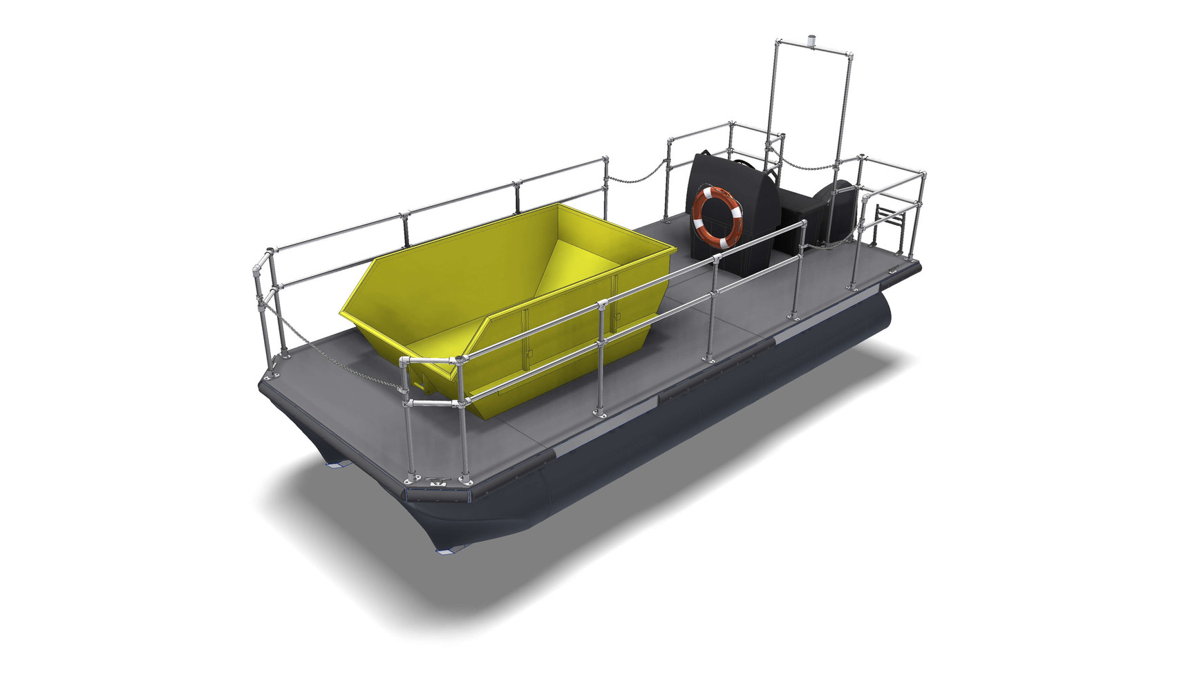 Port garbage boat