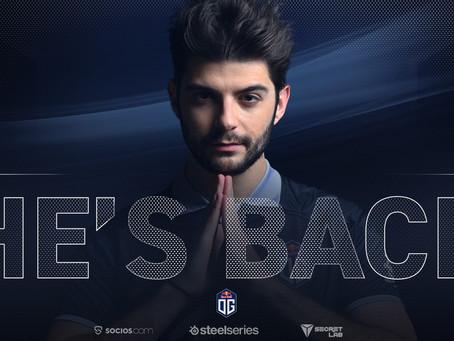 Ceb deja el retiro y regresa a OG Esports