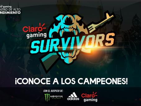 ¡Claro gaming Survivors llegó a su final, conoce a los ganadores!