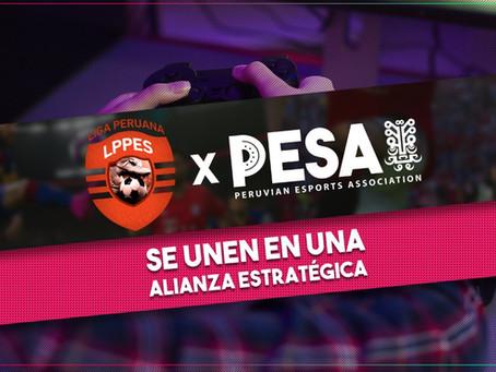 PESA y la Liga Peruana de PES anuncian alianza estratégica
