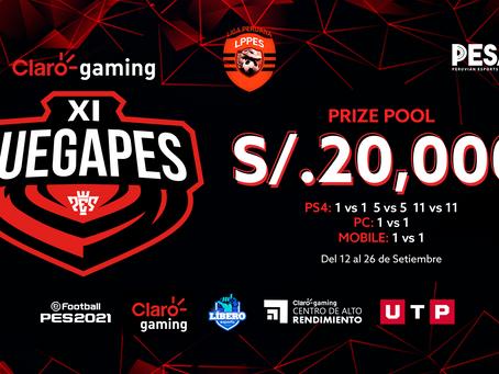 Claro gaming XI JUEGAPES regresa gracias a LPPES, PESA, Claro gaming y UTP [Nota de Prensa]