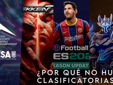 ¿Por qué no hubo clasificatorias abiertas para Dota 2, eFootball PES y Tekken7?