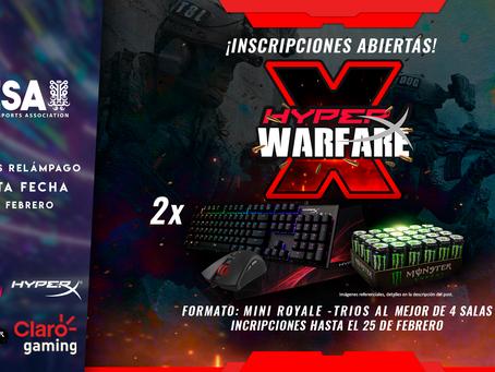 Torneo relámpago de CoD: Warzone por PESA y Full Party: HyperX Warfare