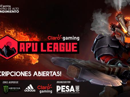 ¡Claro gaming y PESA anuncian la Claro gaming Apu League de Dota 2!
