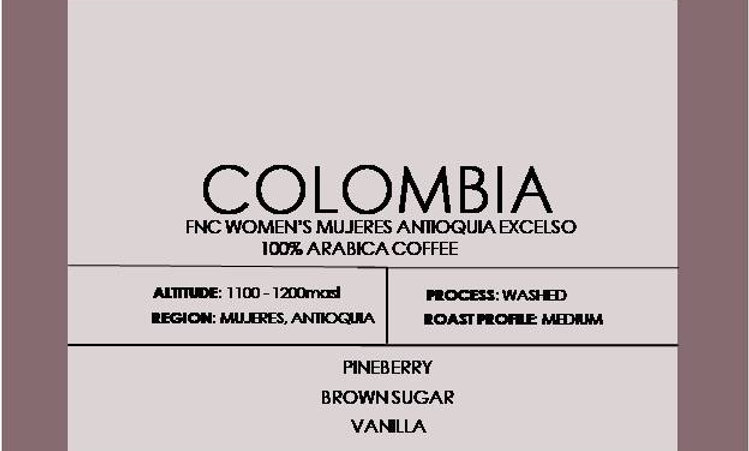COLOMBIA FNC WOMEN'S MUJERES ANTIOQUIA EXCELSO