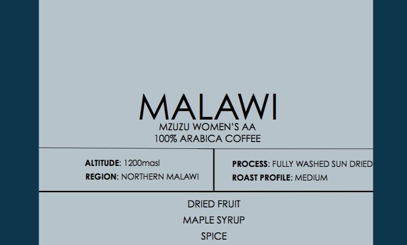 Malawi Mzuzu Women's Coffee AA