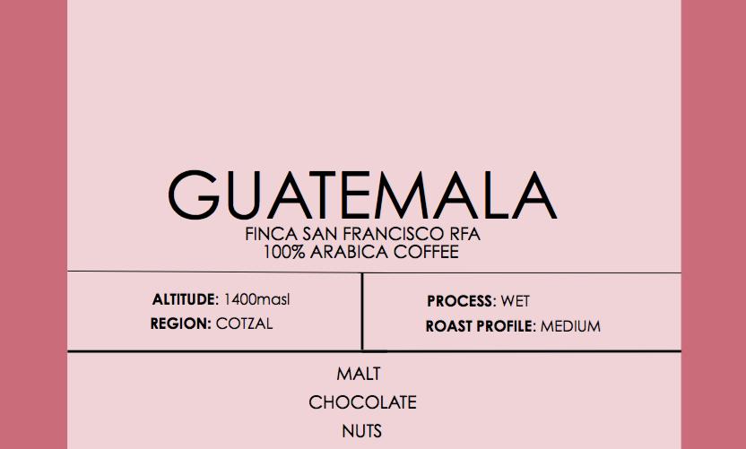 Guatemala SHB Finca San Francisco RFA Certified
