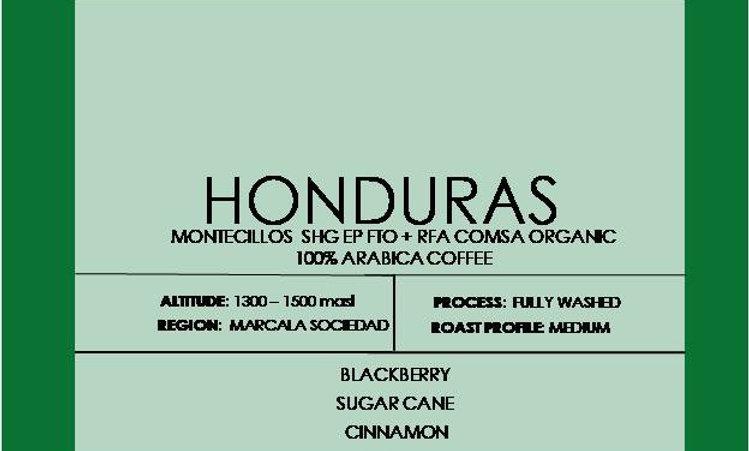 HONDURAS MONTECILLOS  SHG EP FTO + RFA COMSA ORGANIC