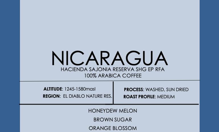 Nicaragua Hacienda Sajonia RESERVA SHG EP RFA