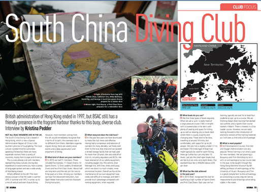 SCDC on the BSAC iSCUBA Magazine