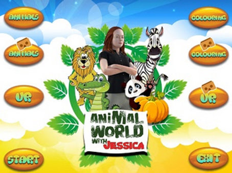 Virtual Reality Glasses Animal World With Jessica