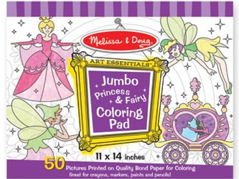 Melissa & Doug - Jumbo Colouring Pad - Princess & Fairy