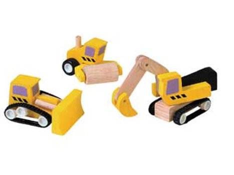 Plan Toys - Road Construction - 3pcs