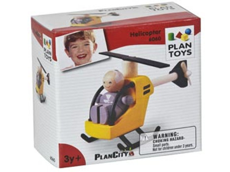 Plan Toys - Helicopter with Pilot